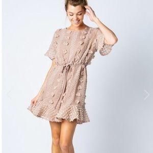Textured Pom Pom Dress